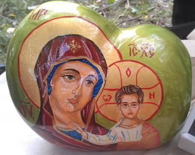 Нажмите на изображение для увеличения Название: Христианская картина - роспись на камне.jpg Просмотров: 34 Размер:91.4 Кб ID:566