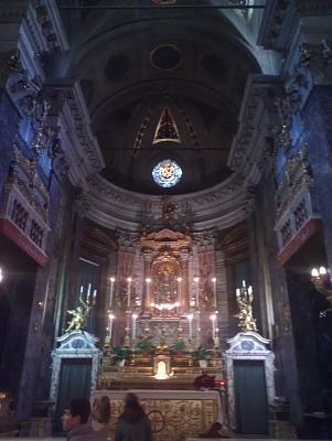 Нажмите на изображение для увеличения Название: Церковь Сант-Игнатио ди Лойола - алтарь.jpg Просмотров: 192 Размер:83.7 Кб ID:236