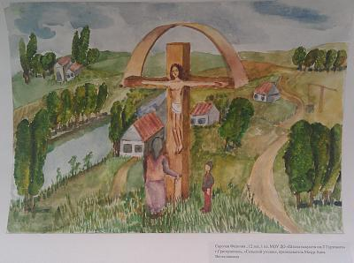 Нажмите на изображение для увеличения Название: Картина Сельский уголок.jpg Просмотров: 114 Размер:92.8 Кб ID:451